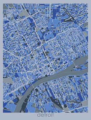 Designs Similar to Detroit Map Retro 5 by Bekim M