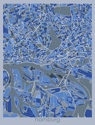 Designs Similar to Hamburg Map Retro 5 by Bekim M