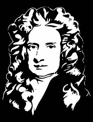 Sir Isaac Newton Digital Art