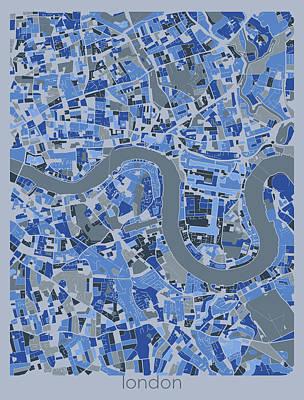 Designs Similar to London Map Retro Blue 5