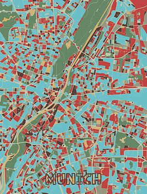 Designs Similar to Munich Map Retro 3 by Bekim M