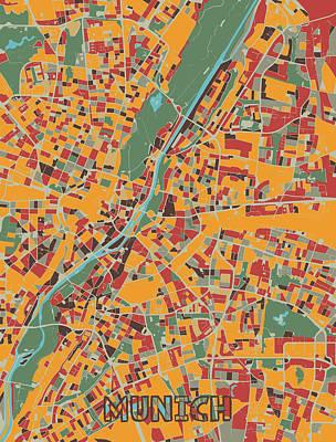 Designs Similar to Munich Map Retro by Bekim M