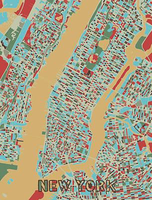 Designs Similar to New York Map Retro 3 by Bekim M