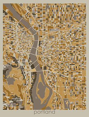Designs Similar to Portland Map Retro 4 by Bekim M