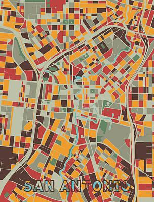 Designs Similar to San Antonio Map Retro