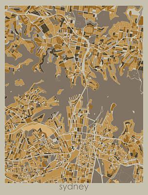 Designs Similar to Sydney Map Retro 4 by Bekim M