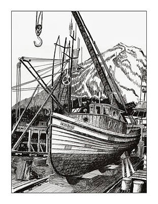 Boats In Harbor Drawings Prints