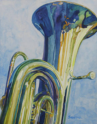 Tuba Paintings Original Artwork