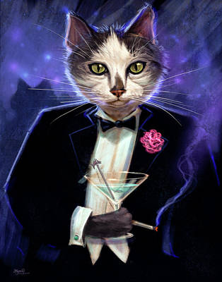 Tuxedo Cat Digital Art