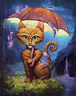 Blue Umbrella Posters