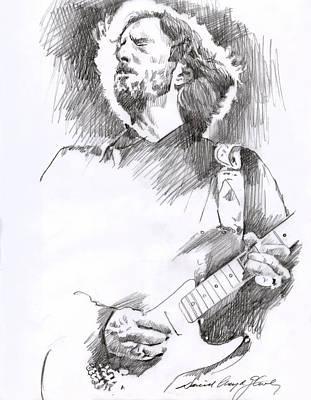 Eric Clapton Drawings Original Artwork