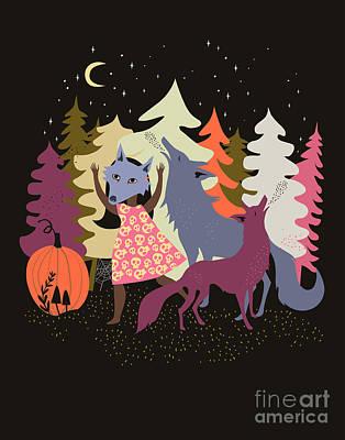 Halloween Costume Digital Art Original Artwork