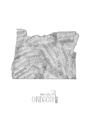 Designs Similar to Oregon Map Music Notes