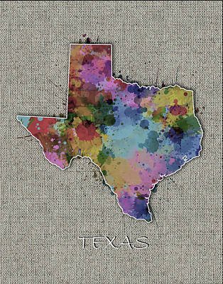 Designs Similar to Texas Map Color Splatter 5
