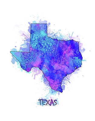Designs Similar to Texas Map Watercolor 2