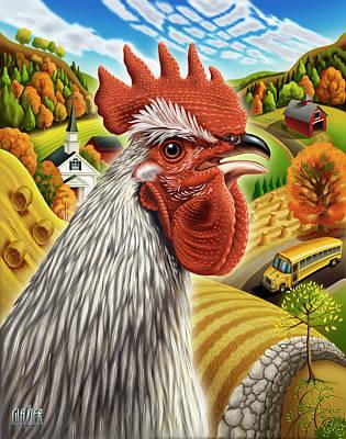Chicken Digital Art Original Artwork