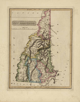 Designs Similar to Antique Map Of New Hampshire