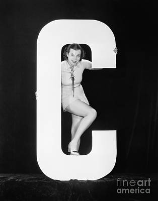 Designs Similar to Woman Posing With Huge Letter C