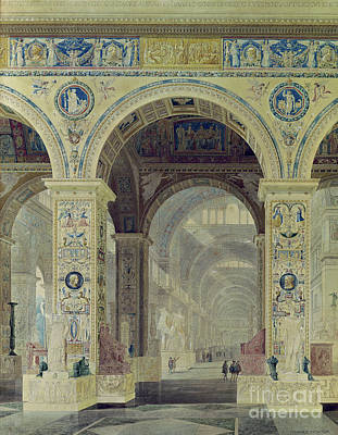Designs Similar to Interior View Of The Louvre