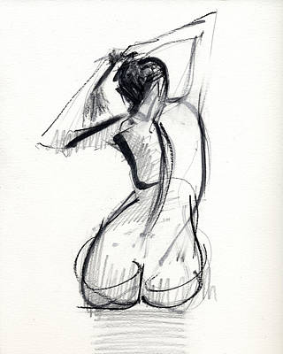 Female Figure Drawings - Wall Art