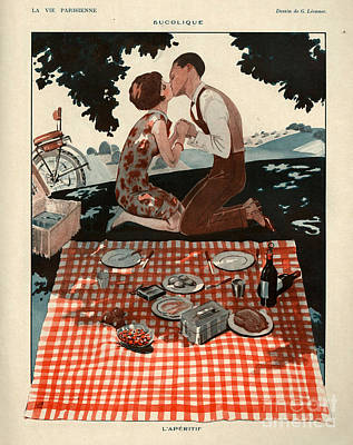 Romantic French Magazine Covers - Wall Art