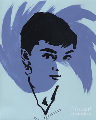 Audrey Hepburn Mixed Media