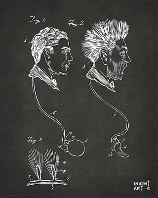 Designs Similar to Novelty Wig Patent Artwork Gray