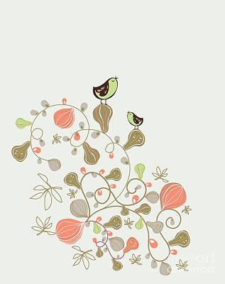 Designs Similar to Sweet Bird Wallpaper Design