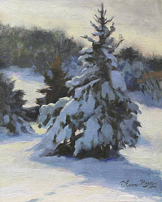 Snow Covered Trees Paintings