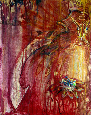 Passionflower Mixed Media