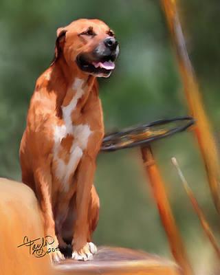 Prairie Dog Mixed Media Original Artwork