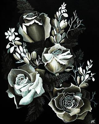 Floral Wedding Invitations Paintings Prints