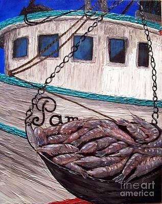 Shrimp Boat Mixed Media Prints