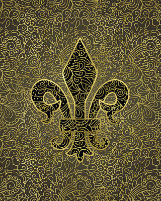 Designs Similar to Fleur De Lis - A Gold Whisper
