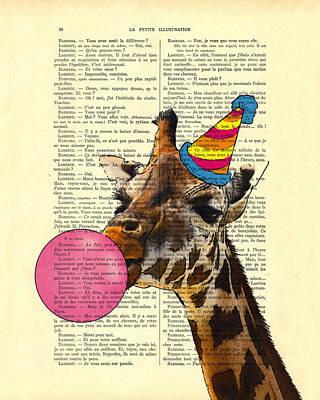 Designs Similar to Funny Giraffe, Dictionary Art