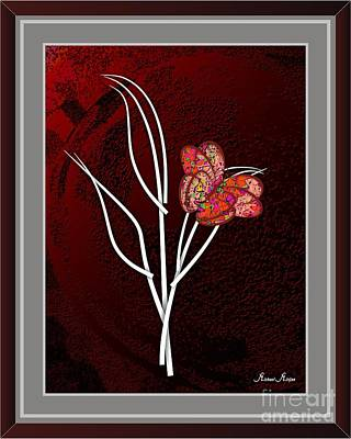Flower Still Life Mixed Media Original Artwork