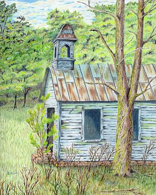 Abandoned School House Drawings Prints