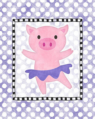 Designs Similar to Pig Dancing - Purple Dotty