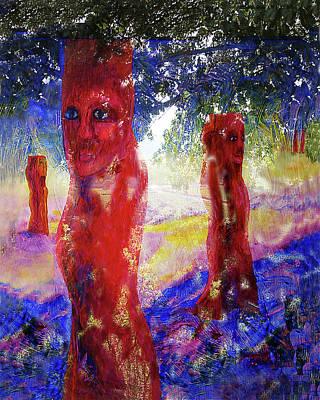 Fantasy Landscape With Figure Digital Art