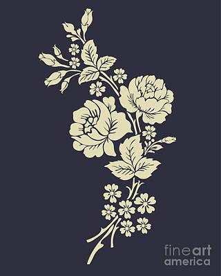 Vintage Flowers Digital Art