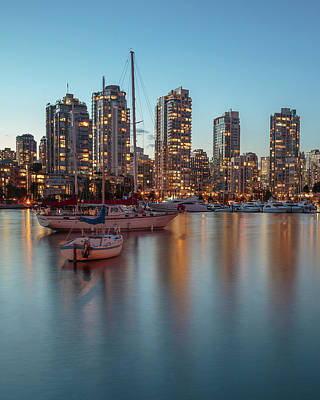 Designs Similar to Dusk Over Vancouver Waterfront
