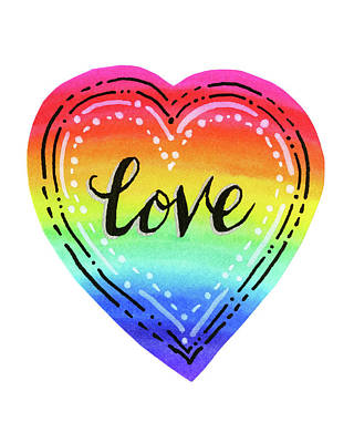 Designs Similar to Rainbow Heart Love