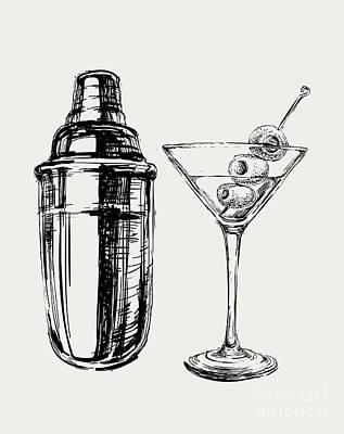 Cocktail Shaker Prints