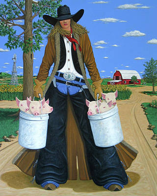 Beautiful Cowgirl Paintings