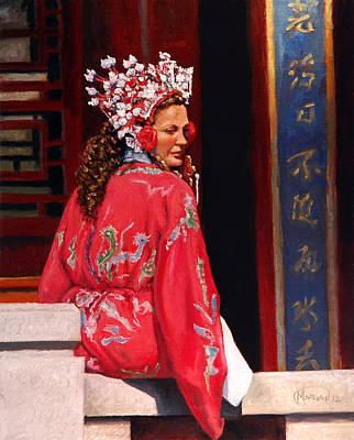 Painting - Woman in Hanfu by Maurice Morgan II