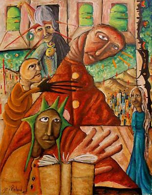 Painting - Bibliotherapie by Jeff  Roland