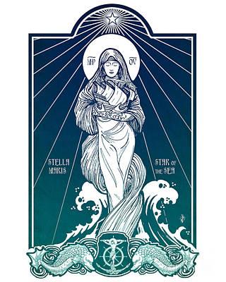 Virgin Mary Digital Art