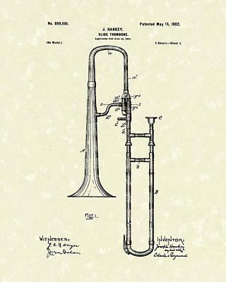 Trombone Wall Art