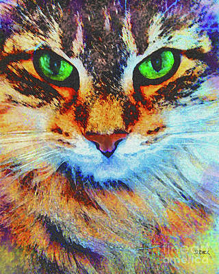 Norwegian Forest Cat Digital Art