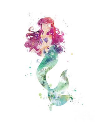 Mermaid Mixed Media